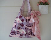 Pink and Purple reversible Tote with Pink scarf