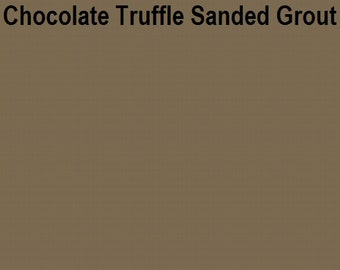 Mosaic Grout Chocolate Truffle Brown SANDED One Pound