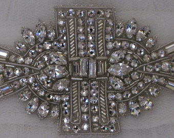 Jewelled bridal belt or crystal sash - Alice