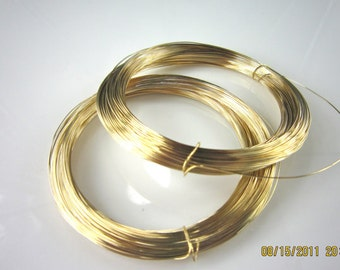 10 feet  28 gauge half hard 14k gold filled round wire