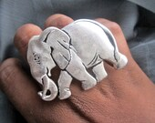 Elephant Ring - Xtra Large Silver