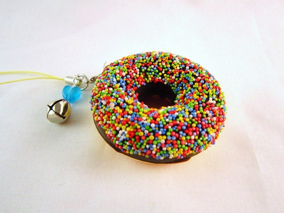 Kawaii Chocolate Sprinkles Donut Squishy