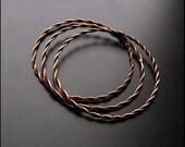 Copper bangles - set of 3