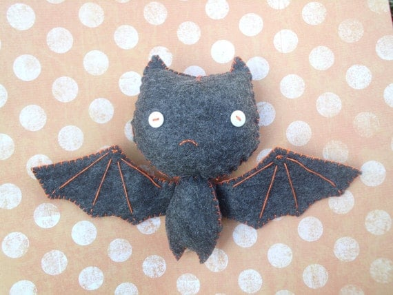 Plush Bat Stuffed Monster Plush Plushie Soft Softie Stuffed Animal Gingermelon Ginger Melon Halloween Doll