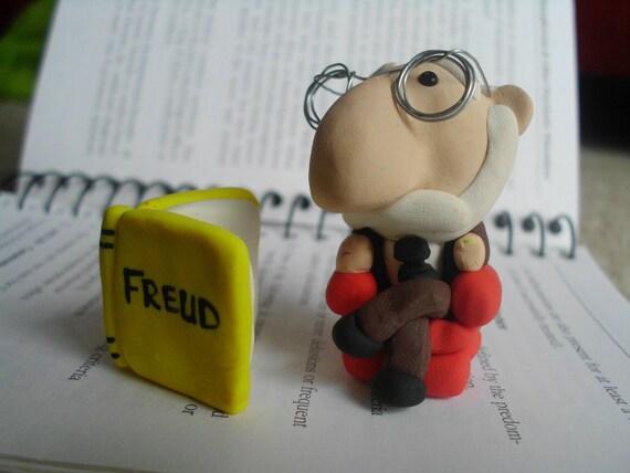 Sigmund Freud Doll Polymer Clay Sculpture Figure Figurine Psychology Counseling Psychoanalysis Gift Student Graduate Graduation