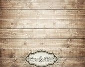 7ft x 7ft Vinyl Photography Backdrop - Brown Washed Wood / Custom Photo Prop