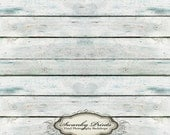 5ft x 5ft Vinyl Photography Backdrop  / White Washed Wood