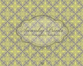 NEW ITEM 5ft x 5ft Vinyl Photography Backdrop / Gray Yellow Diamond Print Design