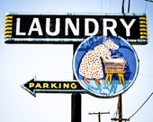 Vintage Laundry Sign 8 x 10 Photography