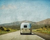 Airstream, Retro, Silver, Summer, Road Trip,11x14