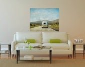 Airstream, Retro, Silver, Summer, Road Trip, 20 x 30 Canvas
