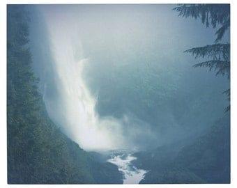 Waterfall, Painterly, Vintage, Washington State,  8 x10 Fine Art Photography Print