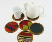 Anatolian - SALE - Engin Turkish  Kilim Cups Coasters - 6 pcs
