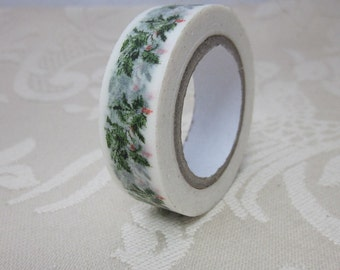 Green Holly Leaf Washi Tape
