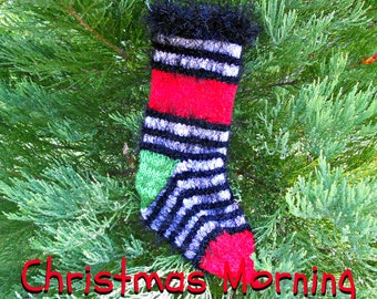 Christmas Morning Surprise Holiday Stocking, Bright and Colorful