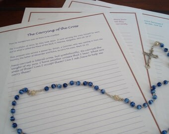 Meditation Journal Insert for Guided Rosary Meditation
