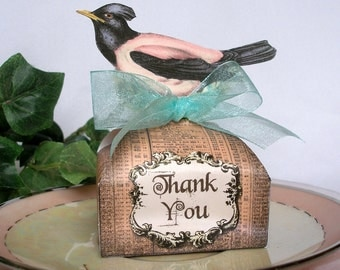 Bird Favor Box Printable Instant Download, Wedding, Shower, Birthday, Party