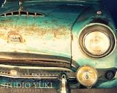 Classic Car Austin - Blue Green Vintage Car - Fine Art Photography - Original Signed Art 8x10 - Austin Powers