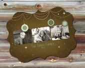 0444 LUXE Christmas Holiday Photoshop PSD Photo Card Template for Photographers - Ornament 3 of 3 -  Millers, Whcc or Mpix