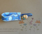 Soothie Fabric Pacifier Clip in Westminster Fabrics by Amy Butler Fabric READY TO SHIP!!