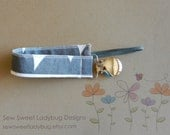 ON SALE *** Soothie Fabric Pacifier Clip in Windham Fabrics by Lotta Jansdotter Standing Stones Pacifier Clip Ready to Ship