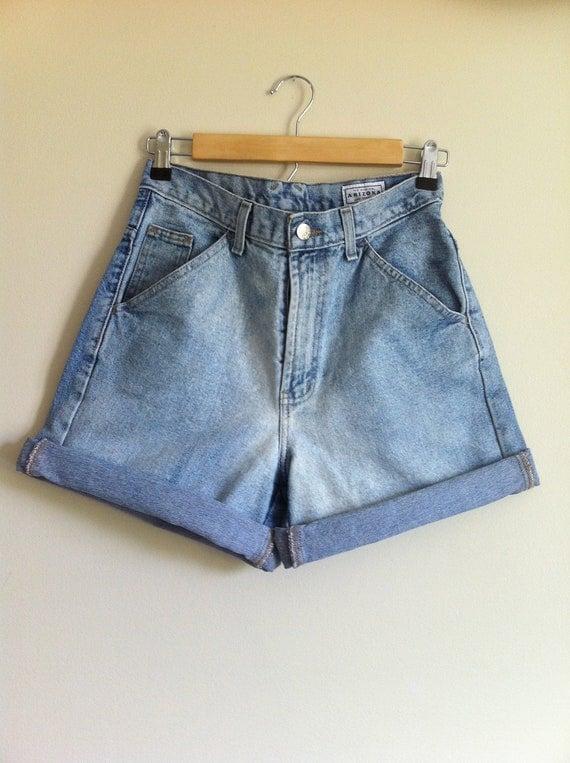 Vintage High Waisted Medium Wash Shorts