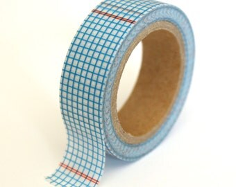 SALE Washi Tape - Blue Ledger - 15mm x 10m - TP125