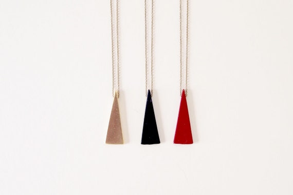 LIMITED Geometric Necklace : Single Triangle Necklace, Layering Necklace