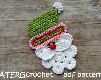 Crochet pattern Santa Claus by ATERGcrochet