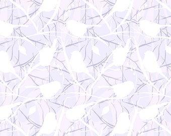 SALE - Andover - Chickadee Bird Silhouette - Gray