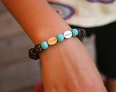 For kids yogi inspired wood bead worry bracelet with change and believe beads
