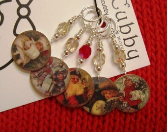 Very Vintage Christmas Holiday NON SNAG Stitch Markers