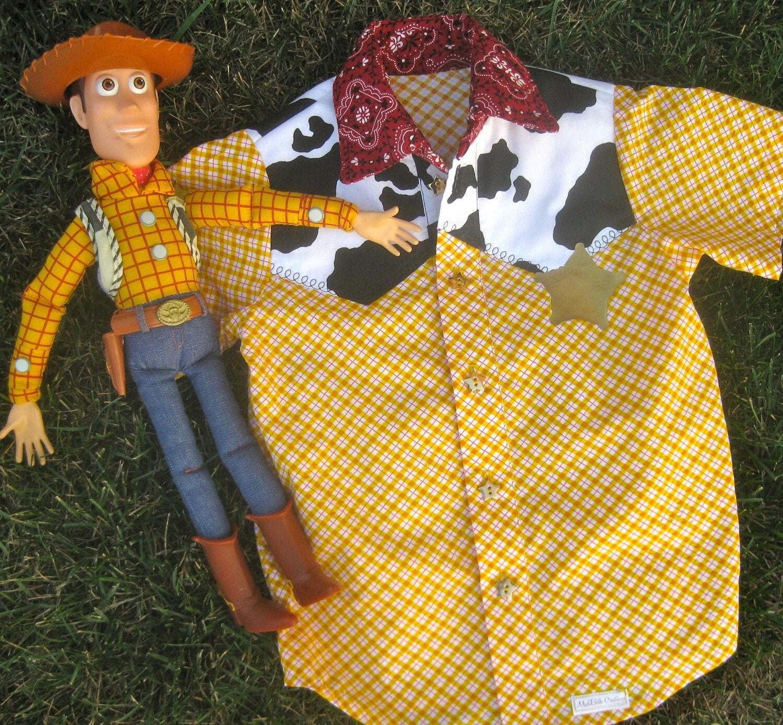 Items Similar To Cowboy Woody Shirt Costume Toy Story Boys On Etsy