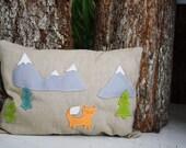 Fox pillow handmade