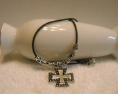 Square Cross with Tube Beads