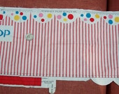 Vintage Circus Tent Fabric Craft Panel to Cut and Sew Big Top and Clown Suit