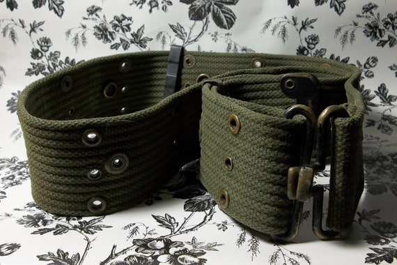 Vintage Heavy Duty US Military Utility Belt