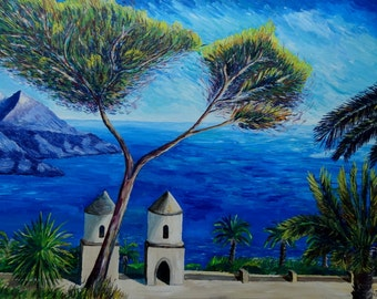 All Blue on Amalfi Coast in Italy - Limited Edition Fine Art Print