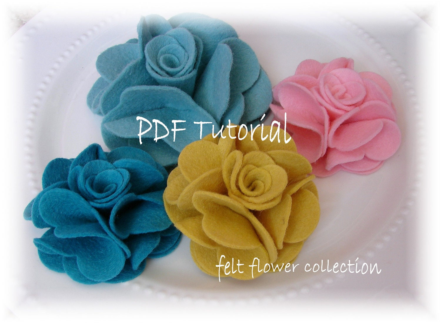 Felt Flower Tutorial Wool Felt Flower by feltflowercollection