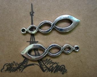 20pcs 37x10mm antique silver flame symbol charms pendant  C3273