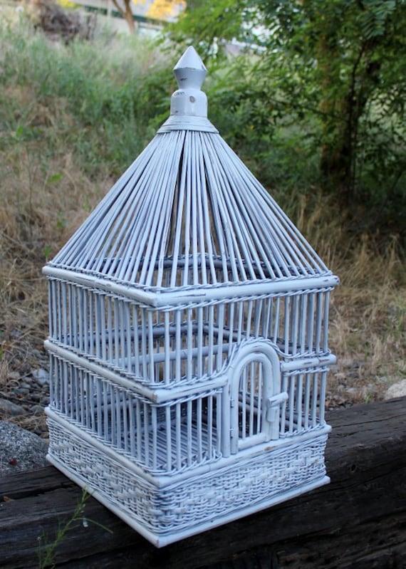 Vintage Palecek Bird Cage Wicker Rattan Large Size Approx