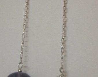 fluorite and sterling dangle earrings