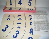 1956 Ideal School Supply Company Card Game - Addition & Subtraction