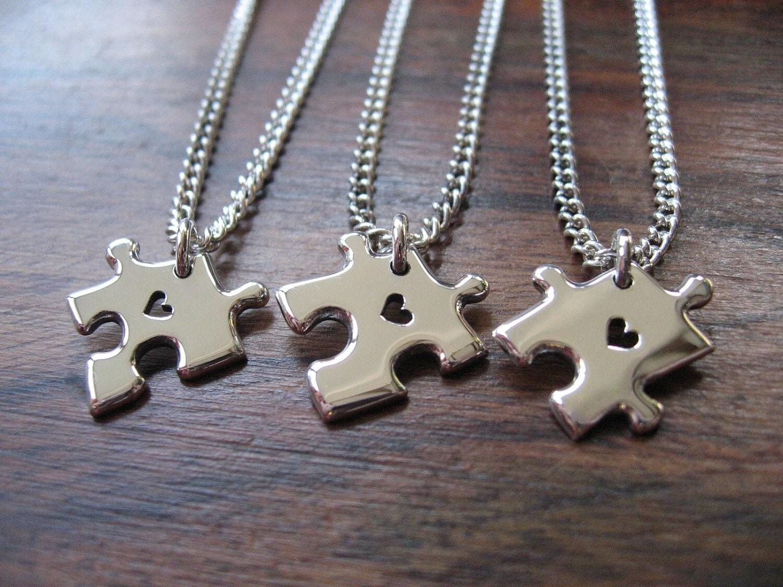 three best friend charm bracelets silver by gorjessjewellery
