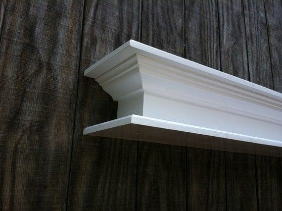 items similar to large white fireplace mantel shelf on etsy