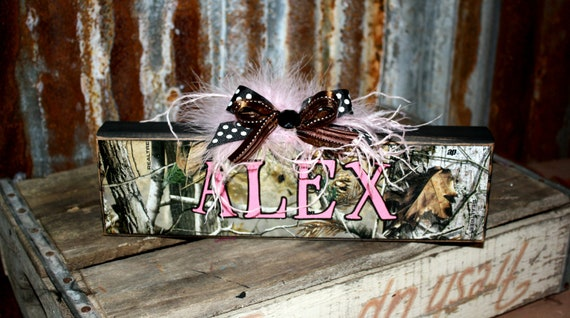 Items Similar To Personalized Camo Rustic Name Plates