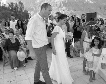 Chiffon Wedding Dress Boho Wedding Dress Vintage wedding dress Lace Wedding Dress Hippie Wedding Dress Paulastudio Wedding Dress