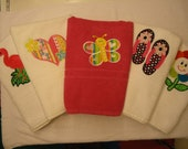 Half Pint Shop Customized Applique Bath Towels: Flamingo, Heart, Butterfly, Flip Flops, Flower, Bird, Ballet- FREE PERSONALIZATION with name