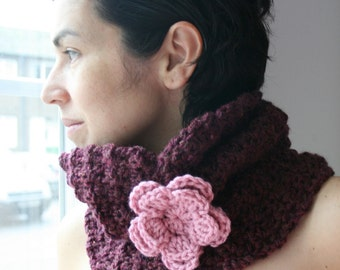 CROCHET PATTERN - crochet cowl pattern crochet adult snood pattern (39) Instant download