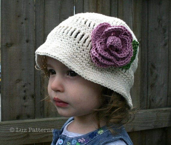 Free Crochet Pattern For Baby Floppy Hats : Crochet hat pattern vintage crochet floppy summer hat pattern